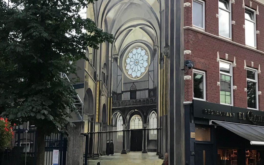 Muurschildering Mariakerk Utrecht